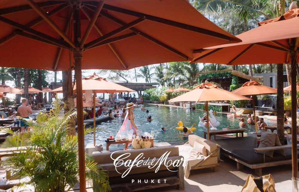 Phuket's best beach club Kamala Beach - Cafe del mar
